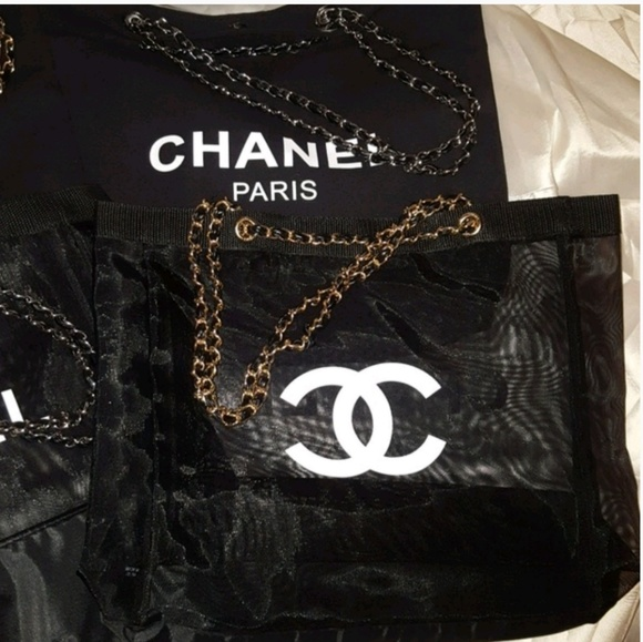 87029459bbb6 CHANEL Bags | Authentic Vip Gift Mesh Tote Or Crossbody | Poshmark
